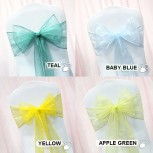 chair-sashes-yellow-teal-baby-blue-green