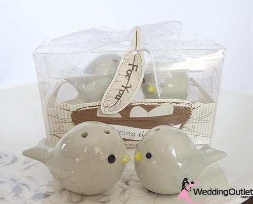 Bird Salt Pepper Shakers Wedding Favors