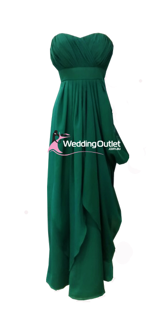 Emerald Green Maid of Honor Dress