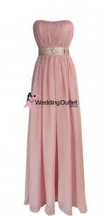 dusty-pink-bridesmaid-dresses-strapless