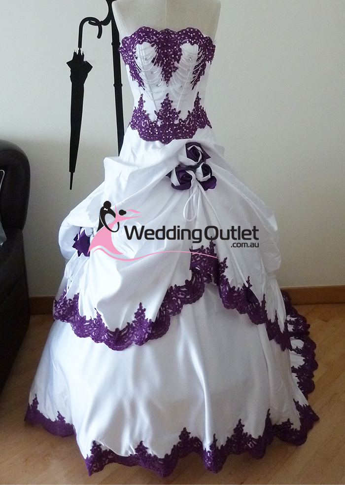 Wedding outlet wedding dresses for White wedding dress with purple accents