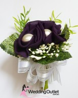 purple-corsages-bouquets-wedding