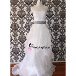 ruffle-wedding-dresses-sash-custom-made
