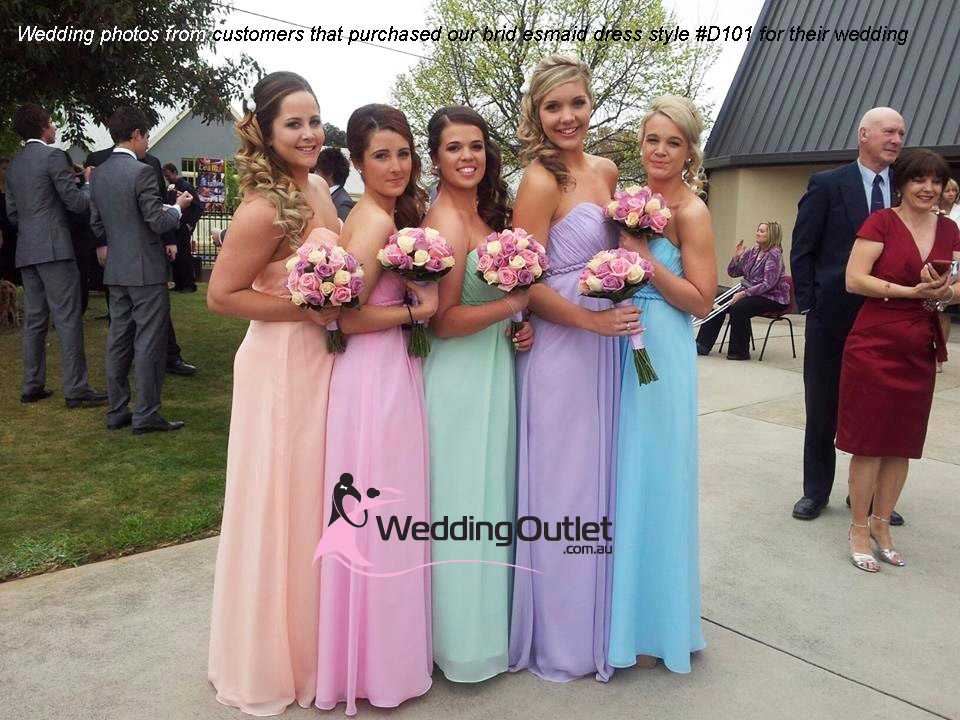 Bridesmaid Dresses Rainbow Colour D101