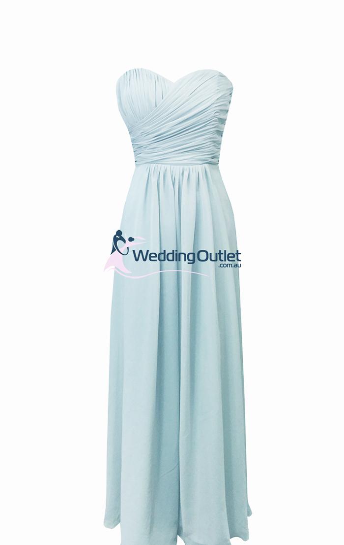 Misty blue dress