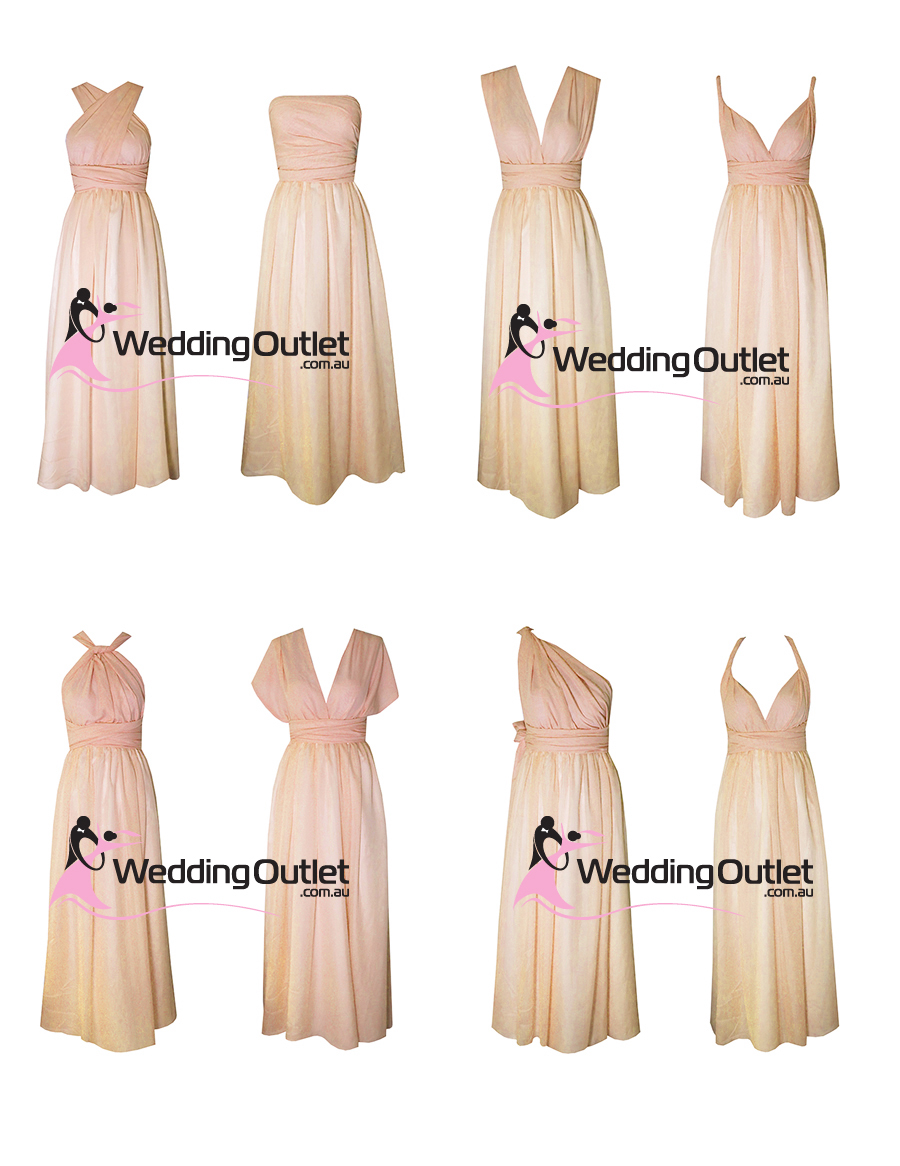 Weddingoutlet wedding outlet wedding dresses online baby peach pastel twist wrap bridesmaid dresses junglespirit Choice Image