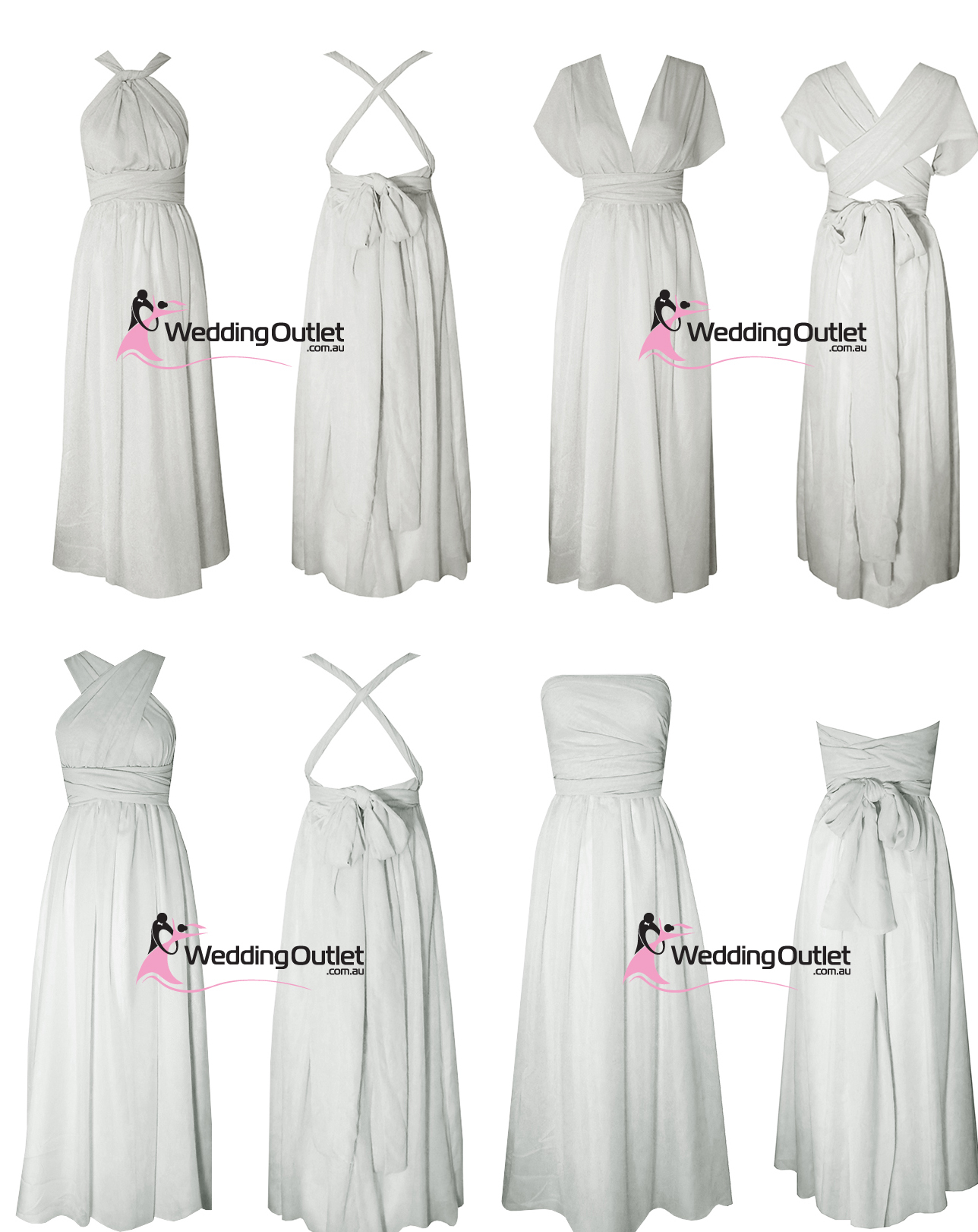 Weddingoutlet wedding outlet wedding dresses online light grey silver wrap dresses bridesmaids formal two ombrellifo Choice Image