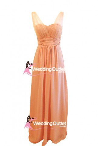 mandarin-peach-sleeved-evening-dresses-ak101