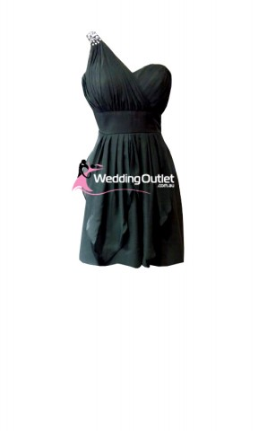 charcoal-grey-short-bridesmaid-dresses-c104