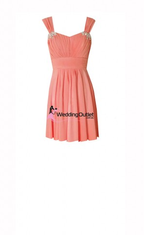 coral-short-dresses-bridesmaids-a1029