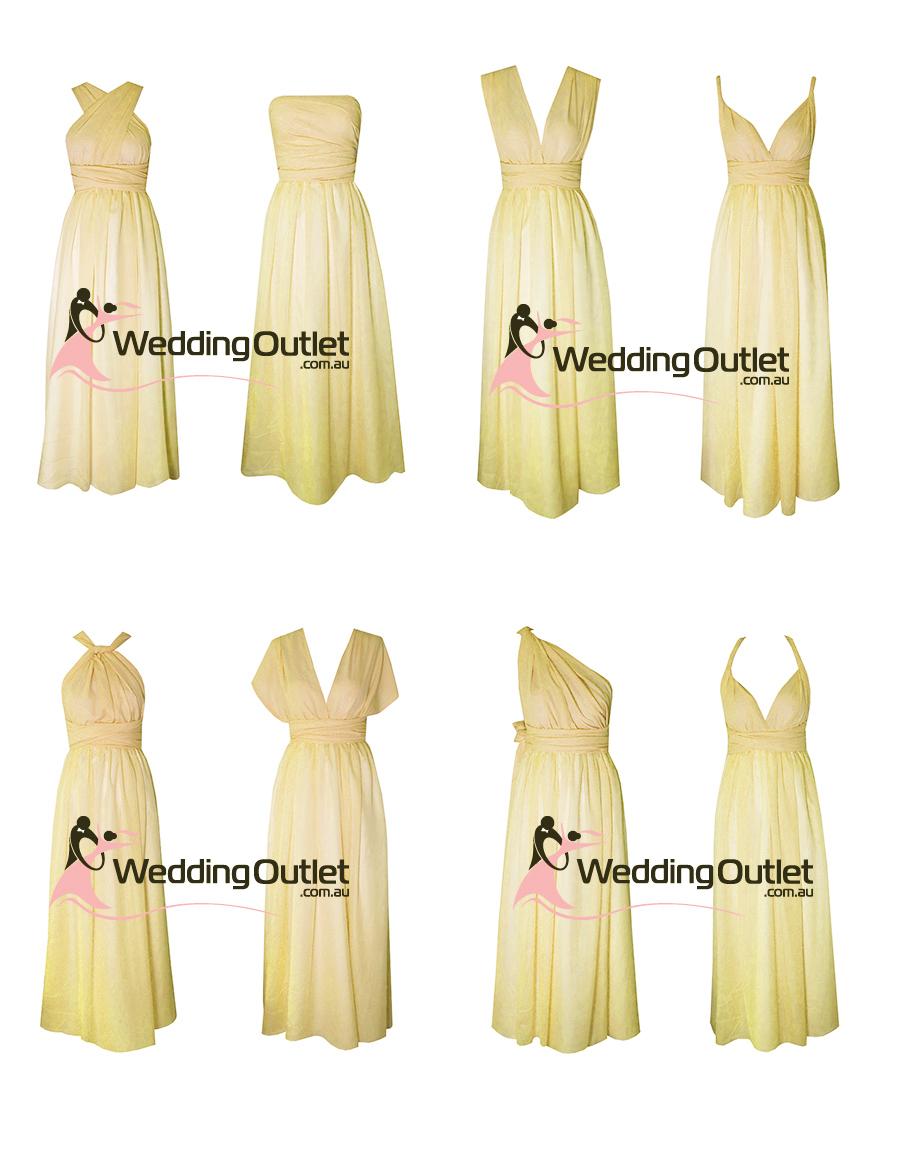Weddingoutlet wedding outlet wedding dresses online pale lemon yellowl twist wrap bridesmaid dresses ombrellifo Images