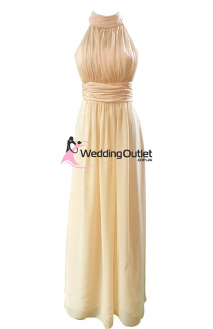 baby-peach-bridesmaid-dresses-maxi-halter-neck-av101
