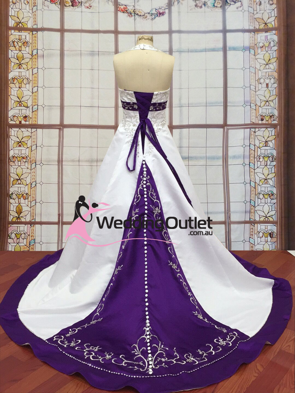 Wedding outlet wedding dresses for Wedding dress with purple embroidery