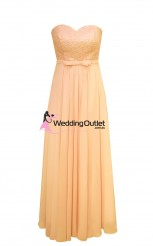 apricot-peach-strapless-lace-maxi-dress-bridesmaid