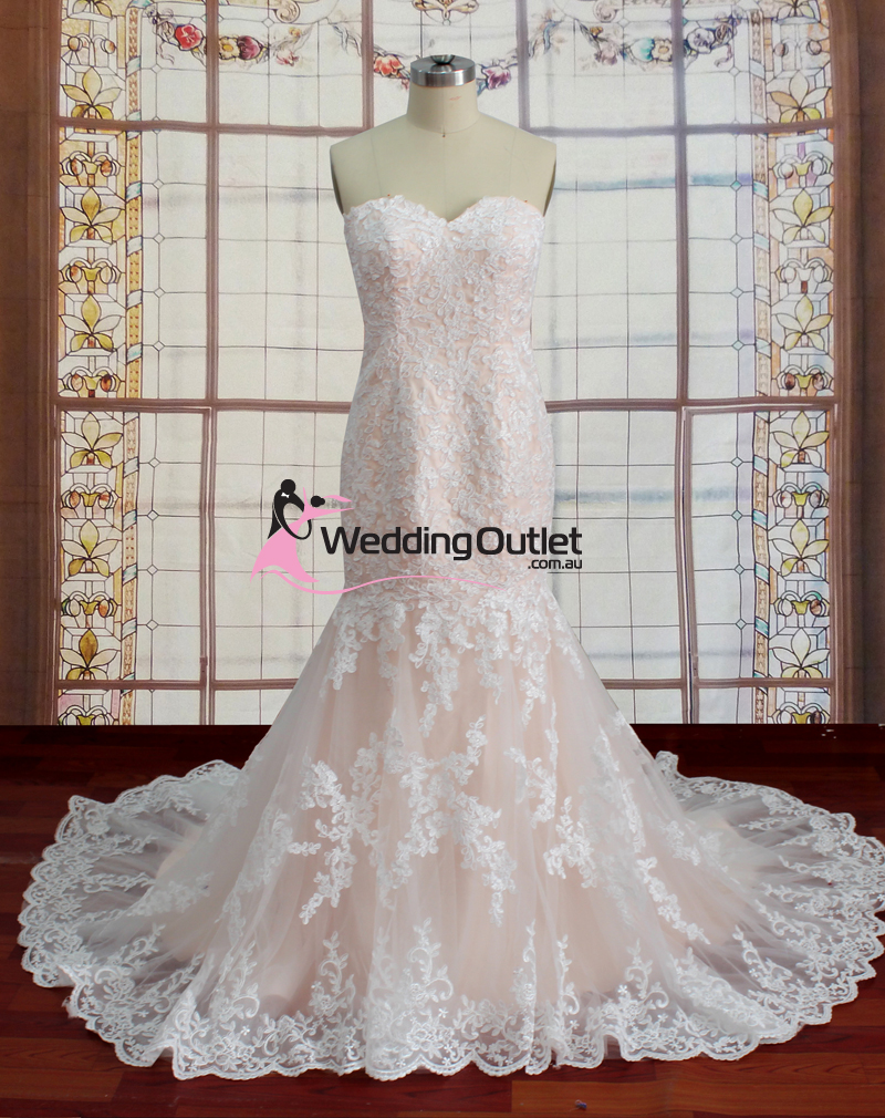 Wedding outlet wedding dresses for Lace champagne wedding dress