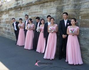 coral-bridesmaid-dress
