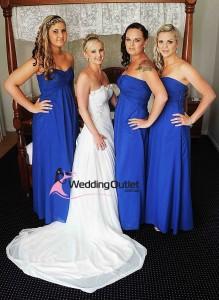 navy-blue-strapless-bridesmaid-dresses