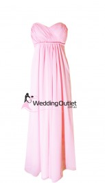 baby-pink-bridesmaid-dresses-strapless