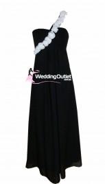 black-and-white-bridesmaid-dress