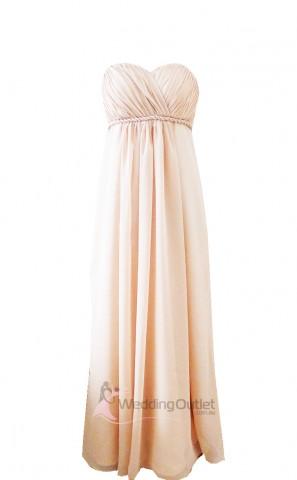 cream-sweet-heart-strapless-bridesmaid-dress