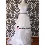 ruffle-wedding-dresses-sash-custom-made