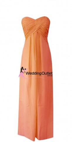 strapless-bridesmaid-dresses-burnt-orange