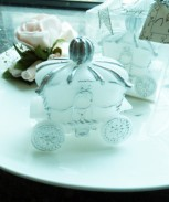 white-carriage-candle-wedding-favors