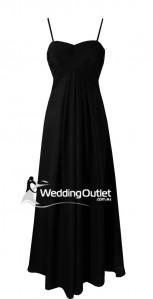 black-two-sleeves-bridesmaid-dress-k101