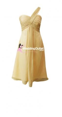 champagne-beige-tea-length-short-bridesmaid-dresses