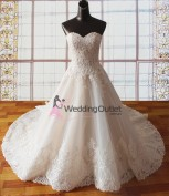 champagne-lace-strapless-wedding-dresses-princess-lacey