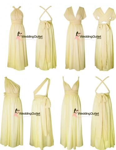 pale-lemon-yellowl-twist-wrap-bridesmaid-dresses-wedding