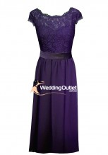 cadbury-purple-lace-cap-bridesmaid-dress