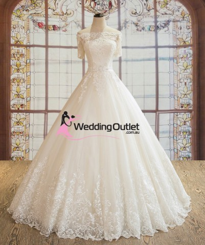 princess-sleeve-off-shoulder-wedding-gown-paisley